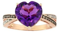 Amethyst and Diamond Ring from Fred Meyer Jewelers